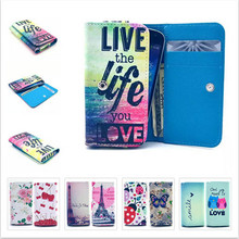 Beautiful Painting Leather Protect Phone Case For Mpie S960 With Card Wallet And Slot Back Cover Case