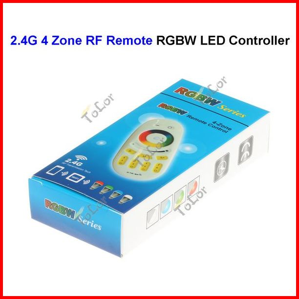 2.4G RF 4 Zone Wireless RF Touch Remote Controller For RGBW RGBWW LED Bulb Lamp Par Light Wholesale<br><br>Aliexpress