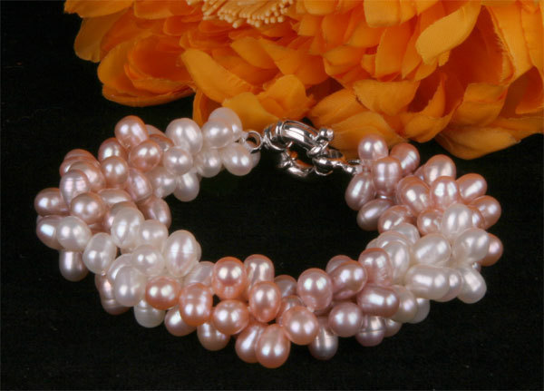 natural 6-7mm AAA pearl braclet 8'' white color,jewelry(China (Mainland))