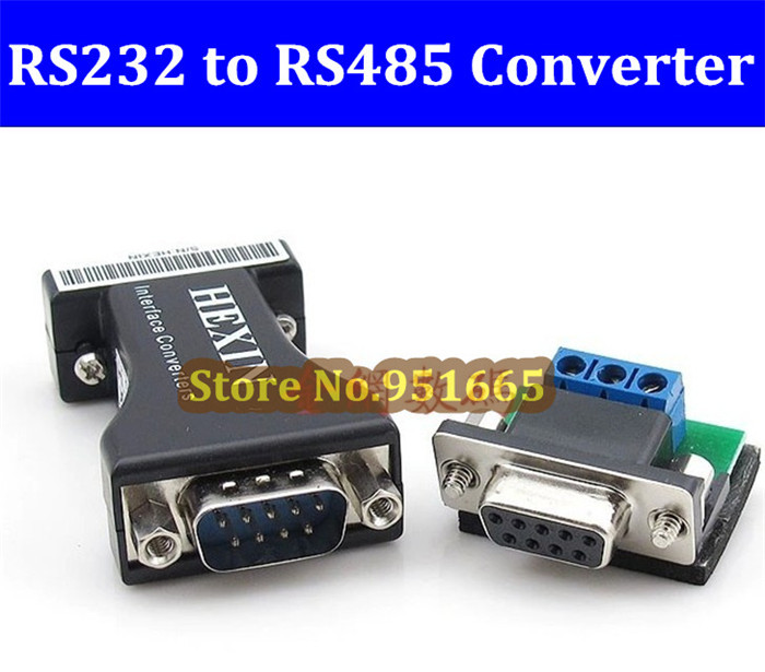 High Quality 10pcs/lot RS232 to RS485 Data Converter 232/485 RS485 to RS232 Communication Data Converter Adapter Free shipping(China (Mainland))