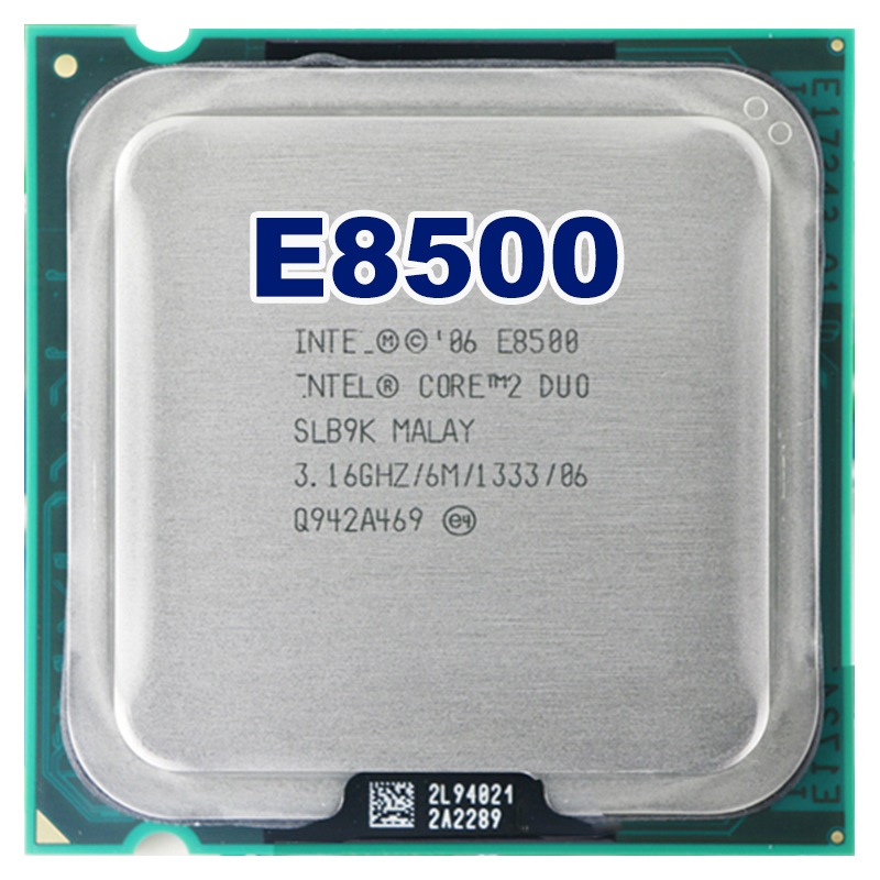 intel core 2 duo E8500 CPU Processor (3.16Ghz/ 6M /1333GHz) Socket 775 free shipping motherboard cpu combo(China (Mainland))