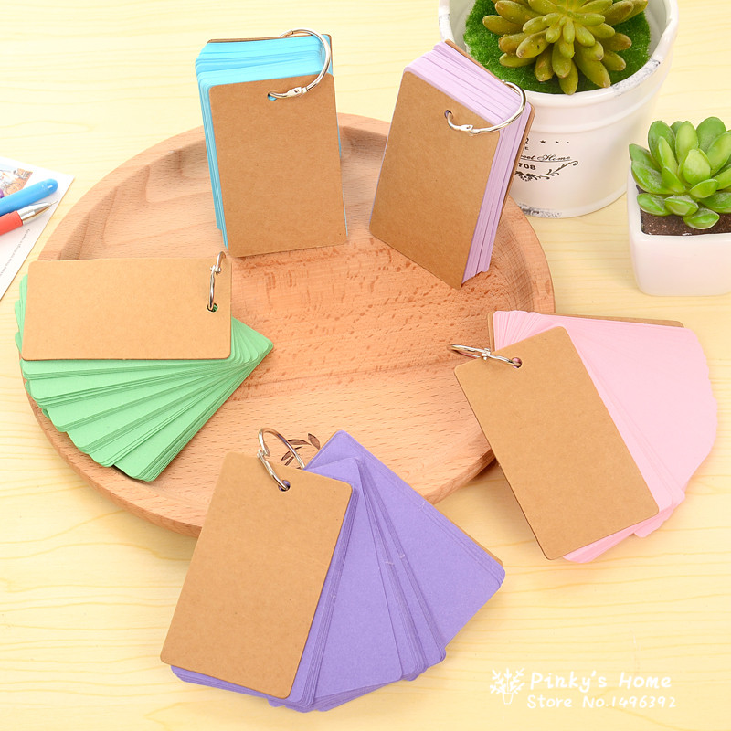 Korean CreativeCandy Color Buckle Binder Notes Portable Flash Cards Memo Pads Cute Stationery<br><br>Aliexpress