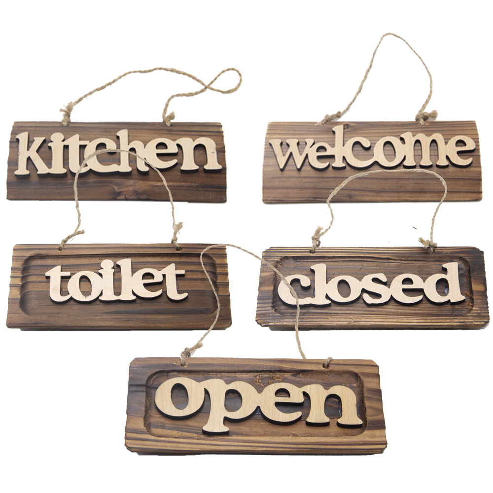 Welcoming Board Store Wood Welcome Sign Decoration Plate Listing Welcome Board Kitchen Welcome Toilet Closed Open 100% Handmade(China (Mainland))