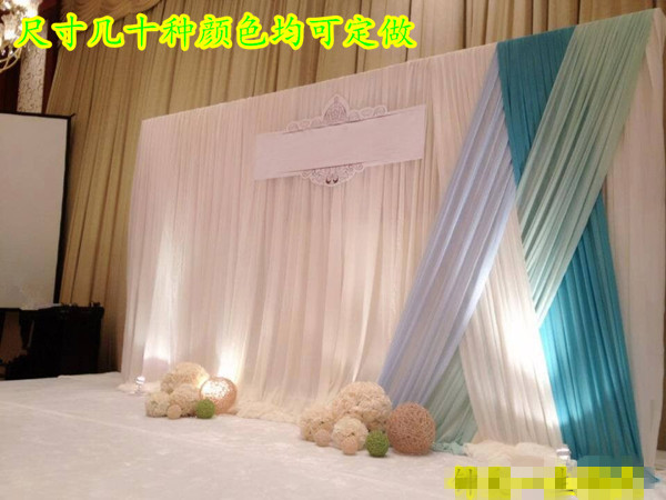 Covering Walls With Curtains : Gauze drapes for wedding party stage decorations wall