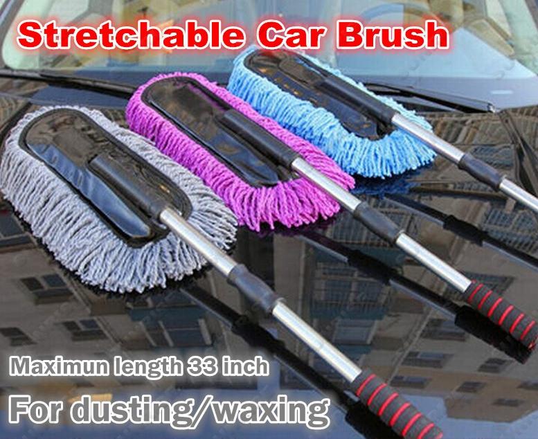 Quality Car Waxing Mop Dust Cleaning Brush Anti-static Bacteriostatic Stretch Mop Wax Brush Car Washing Brush Floor Waxing Mop(China (Mainland))