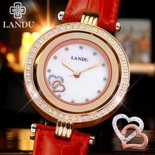 Mujeres del reloj, nueva Ladies acero movimiento de cuarzo cristal de Super Slim Simple relojes resistente al agua, oro rosa de color, regalo