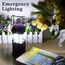 Black Retractable 30 LED Outdoor Camping Lantern Portable Lighting Tent Light Emergency Led Camping Lantern Lamp(China (Mainland))