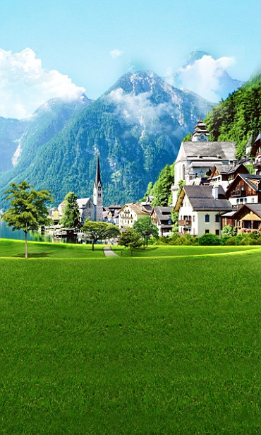 600CM*300CM fundo Mountain prairie houses3D baby photography backdrop background LK 2143<br><br>Aliexpress