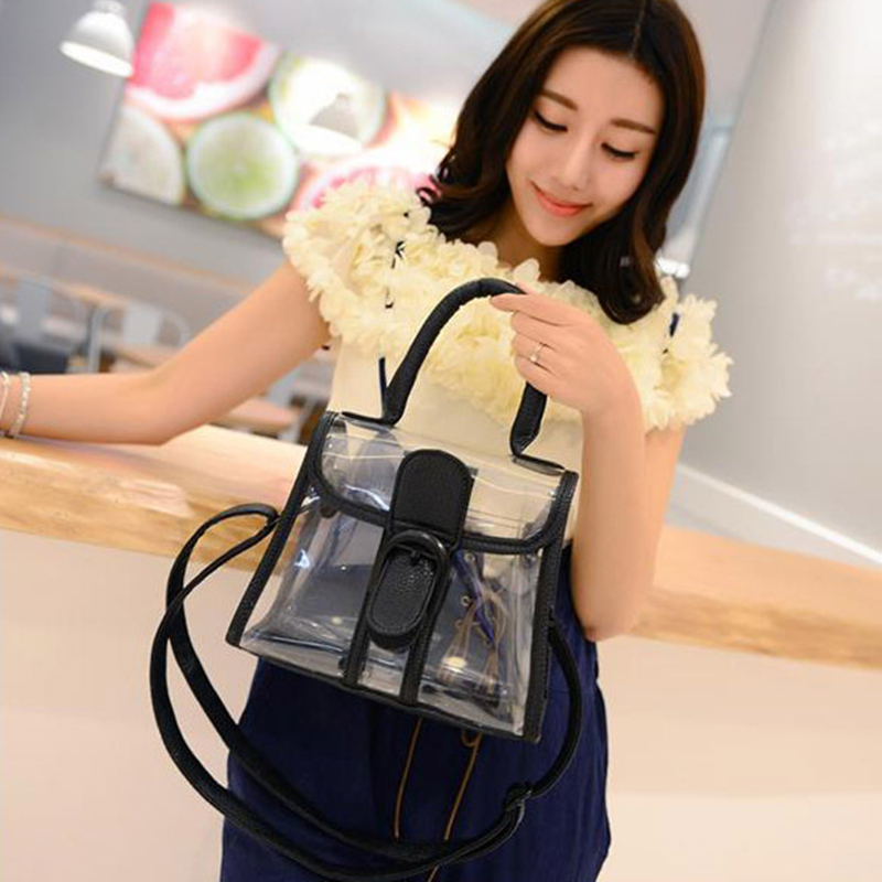 Free Shipping 2016 Transparent Women Party Messenger Bag Clear Color Clutch Bag Shoulder Bag For Woman Summer Promotion G0349(China (Mainland))