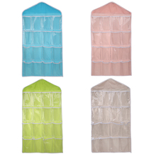 16 Grid Underwear Bras Socks Ties Shoes Storage Bag Clothing Organizer Box Hanging Bags(China (Mainland))