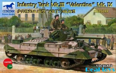 Bronco model CB35144 1/35 Infantry Tank Mk.III Valentine Mk.IX plastic kit