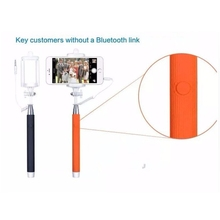 Wired Selfie Stick Handheld Monopod Built in Shutter Extendable with Fold Holder For iPhone Samsung Smartphone