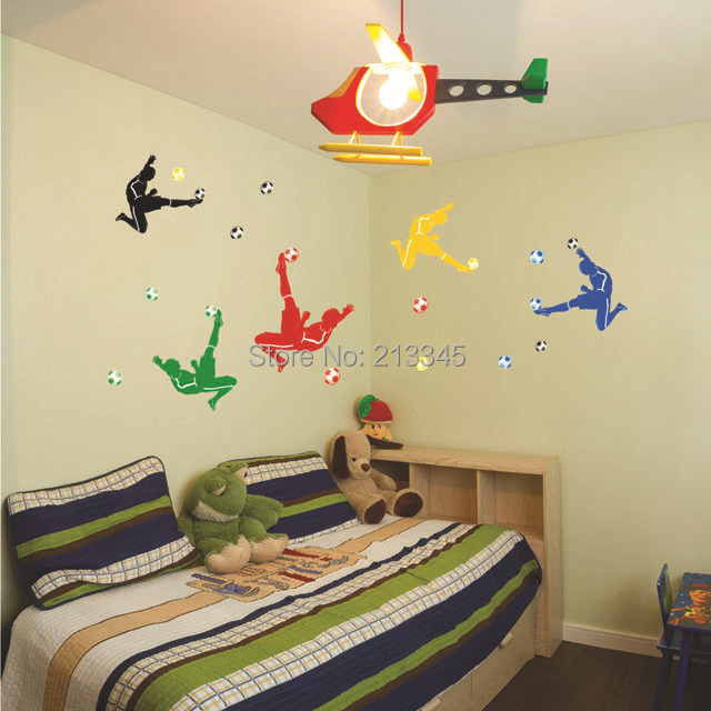 Saturday Monopoly Colorful And Creative Football Wall Stickers Boy Bedroom