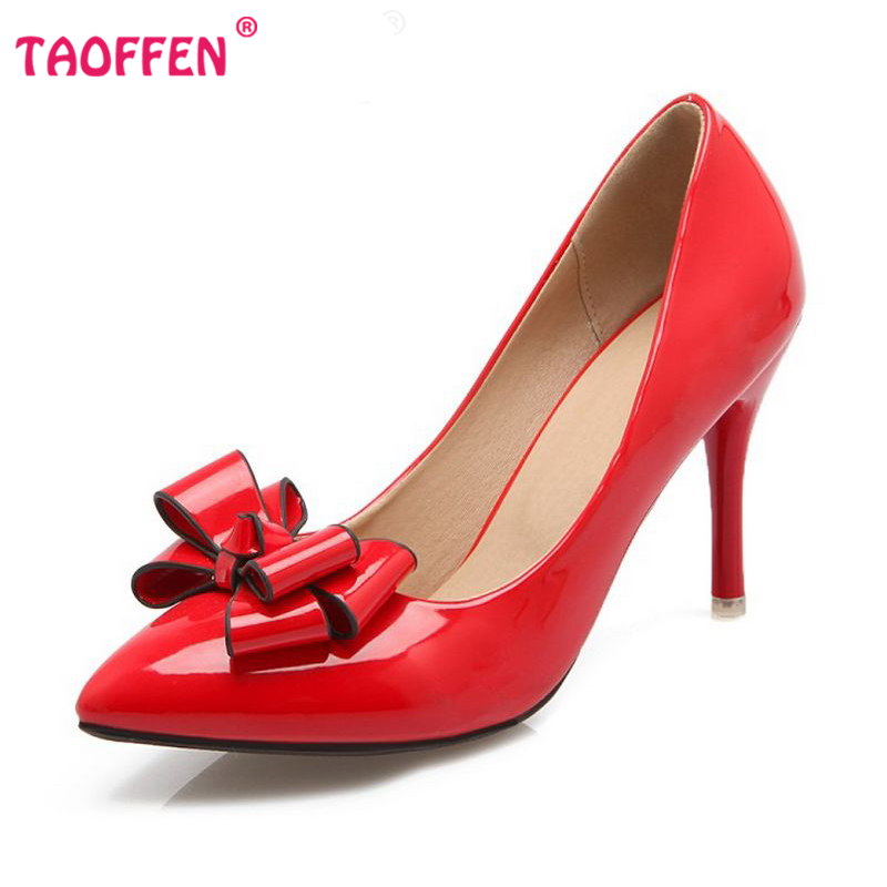 size 31 48 thin high heel shoes pointed toe bowknot