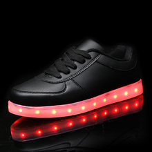 yeezy shoes 7Colors male&female luminous shoes unisex led glow shoe men&women fashion USB rechargeable light led casual shoes(China (Mainland))