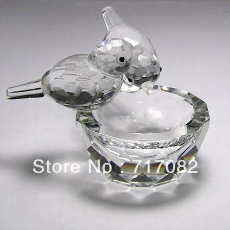 Shipping Free Good Quality Crystal Figurines Model,Crystal Bird Figurines,Crystal Homde Decoration(China (Mainland))