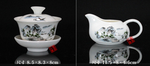 14 PCS Chinese Kung Fu Ceramic Tea Set Service Includes Gaiwan ChaHai Freeshipping