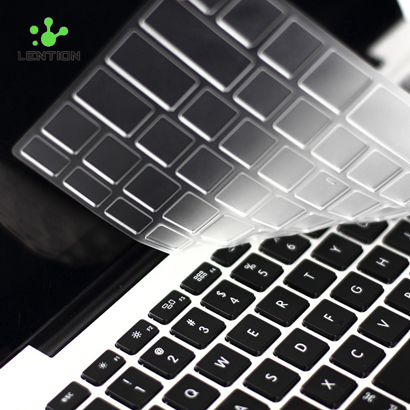 UltraThin Clear US EU Keyboard Cover TPU Silicon Clavier Sticker Waterproof Skin for MacBook Air Pro iMac 11 12 13 15 17 Inch(China (Mainland))