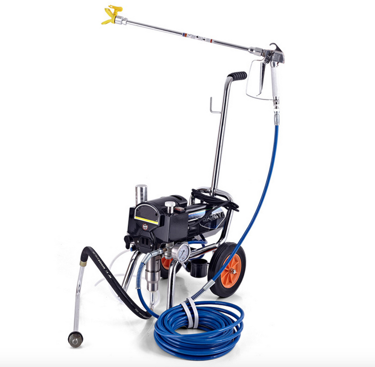 Professional airless electric piston paint sprayer with spray gun heavy-load painting equipment with extend pole(China (Mainland))