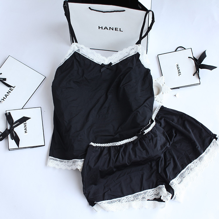 QX732 New arrival women usually lace pajamas sets young lady girl lovely short dress + shorts underwear(China (Mainland))