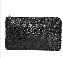 Free Shipping Dazzling Sequins Handbag Party Evening Bag Wallet Purse Glitter Spangle Day Clutches