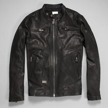 Factory Men's Genuine Leather Jacket For Men Real Matte Goat Skin Sheepskin Fashion Brand Black Motorcycle Biker Male Coat ZH031(China (Mainland))