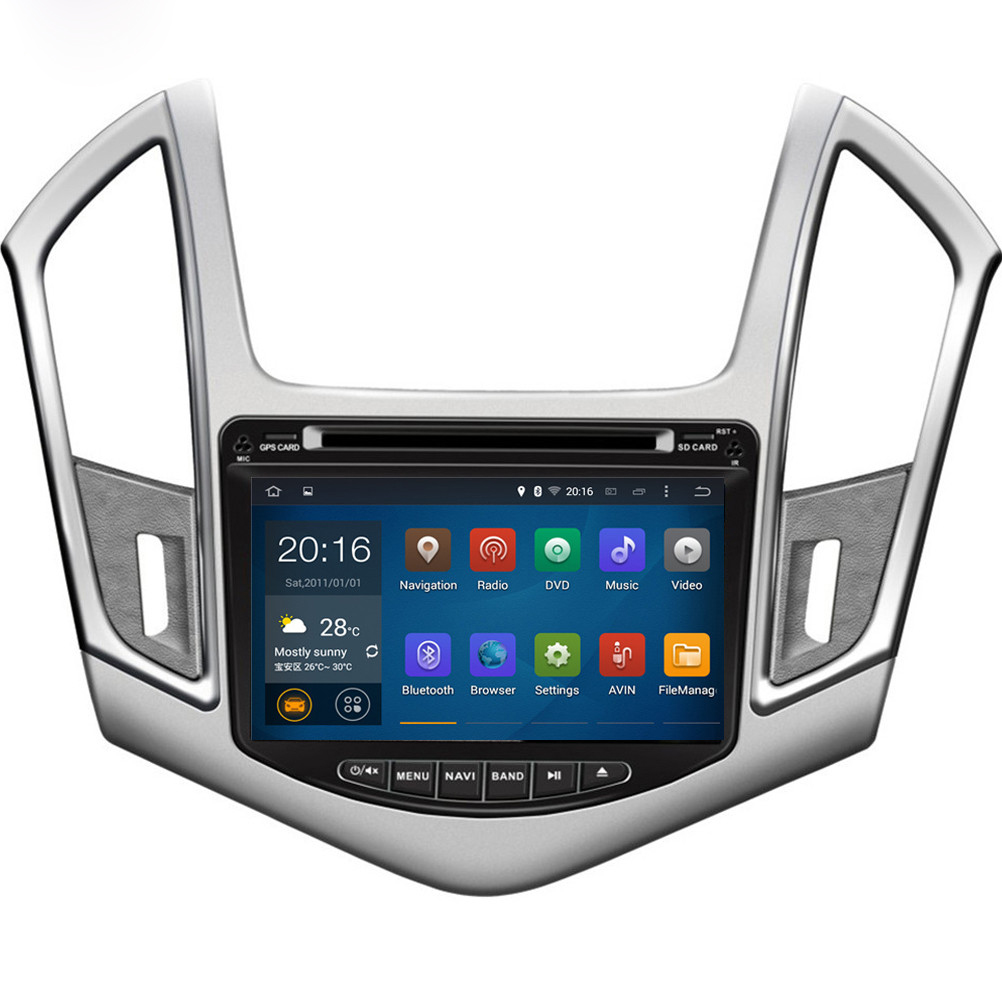 1024*600 Quad Core 16G 8'' Pure Android 5.1.1 Car DVD Player for CHEVROLET CRUZE 2013- GPS Navigation Newest Radio Free Shipping(China (Mainland))