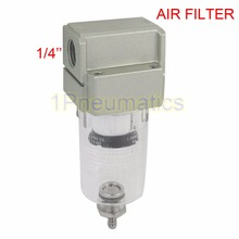 Free Shipping AF2000-02 Compressor Pressure Regulator Pneumatic Air Filter 1/4 Inch Ports Female