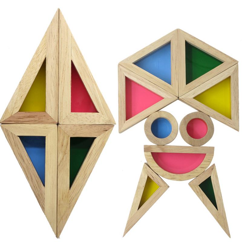 Educational Rainbow Blocks Toys Early Childhood Montessori Educational Creative Plaything Inspire Manipulative Ability(China (Mainland))