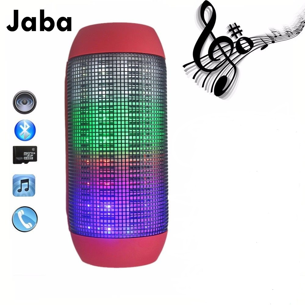 Portable Wireless Bluetooth Speaker 360 LED Lights Speakers Support U-disk and TF card Boombox Speaker For iphone Samsung<br><br>Aliexpress