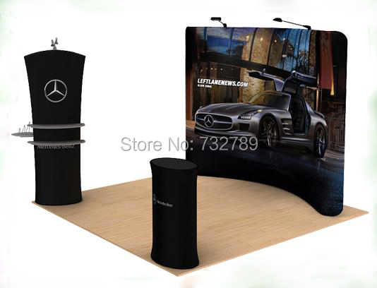 10ft Exhibition Booth,Tension Fabric Banner Display Stand,Trade Show,Exhibition Stand Display(China (Mainland))