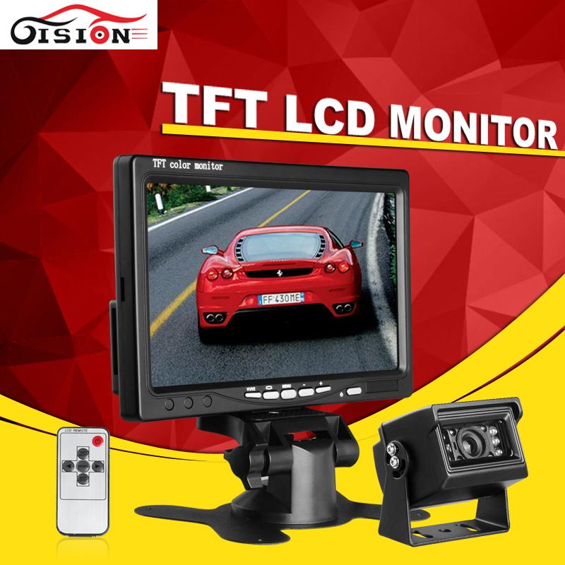DropShipping 800x480 HD TFT LCD Car Monitor With 7inch +Car Parking Assisstance Rear View Backup Reversing Waterproof Bus Camera(China (Mainland))
