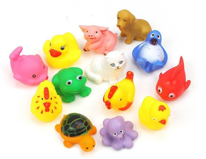 Set Juguetes De Baño Jane:Rubber Bath Toys Animals for Babies