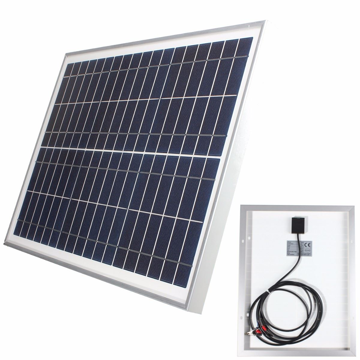 12V 20W Polycrystalline Stored Energy Power Poly Universal Solar Panel Module System Cells Charger+300cm Cable+2 Alligator Clips(China (Mainland))