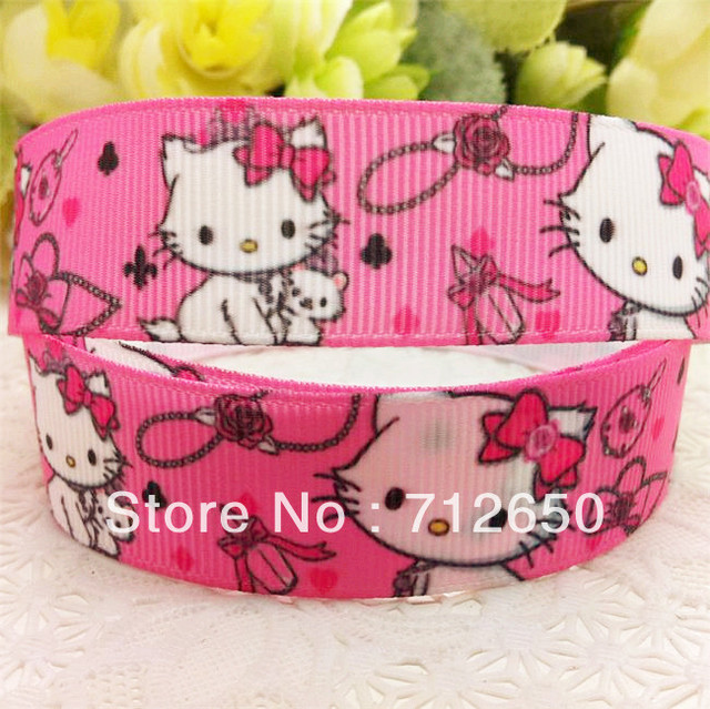 free shipping 7/8'' 22mm printed grosgrain ribbon EF051 clothing accessory Bow Material Gift Wrap ribbon 10 yards code KT56