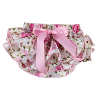 Retail Newborn Baby Girls Underwear With Bow Multilayer Panties Baby Ruffle Bloomer Zebra toddler Shorts baby diaper cover
