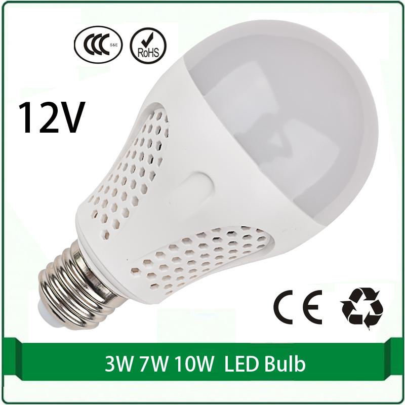12 volt dc led bulbs 3W 7W 10W bulb solar panel bulb 12 volt led lamp led 12v e27 e26 B22 lampada(China (Mainland))