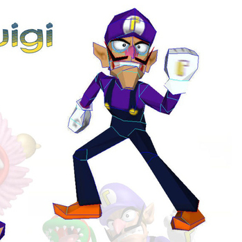 Min.order $19(mixed support) Mario waluigi  3D puzzle DIY paper model Educational Toy