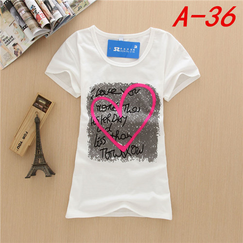 Women t shirts wholesale custom printing t shirts design for T shirt printing in bulk