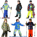 2014FREE SHIPPING phibee kids winter clothing set skiing suit snow jacket+pant  Russian -20-30 DEGREE boys ski suit size128-176