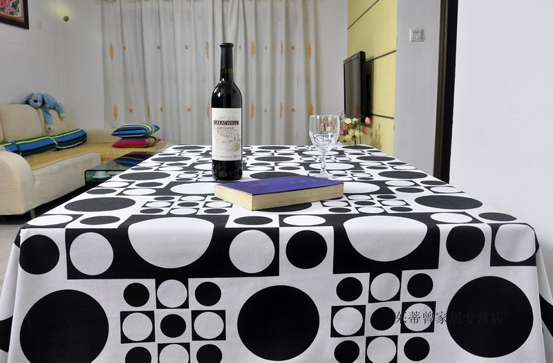Brief modern Cotton fabric table cloth coffee tablecloth rectangle and square dining tablecloth(China (Mainland))