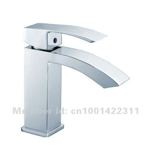 Brass Bathroom Basin Faucet,Square Mixer Taps ,Single Handle Chrome - Deen Sanitary Ware Co.,Ltd store