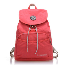 Special Offer 2015 New Drawstring Covered Women Backpack Female Kip Style Fashion Nylon Waterproof School Bags For Teenagers(China (Mainland))