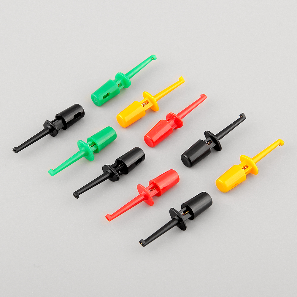 New Multi-color 10 Pcs Mini Single Test Hook Clip Test Probe for Electronic Grabber Large Size Round(China (Mainland))