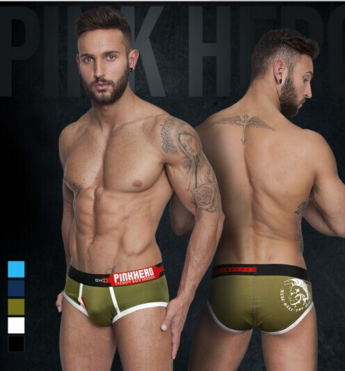 Free Shipping1 Pcs/lot mens sexy underwear gay Men briefs shorts sexy panties XXL sleepwear pants Andrew Pentis pinkhero brand(China (Mainland))
