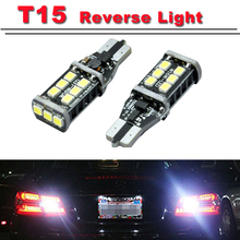 2PCS Car styling New Canbus Car LED 7.5w T15 LED Reverse Light W16W 15SMD NO ERROR Backup light rear Lamp parking(China (Mainland))