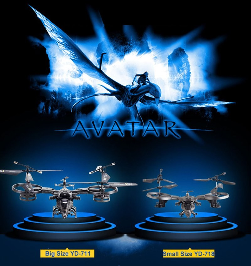 New Arrival Hot Sale YD711 YD718 Helicopter 4 Channels 2.4G RC Quadcopter Drone Avatar YD-711 YD-718 Fighter Model RC Toys