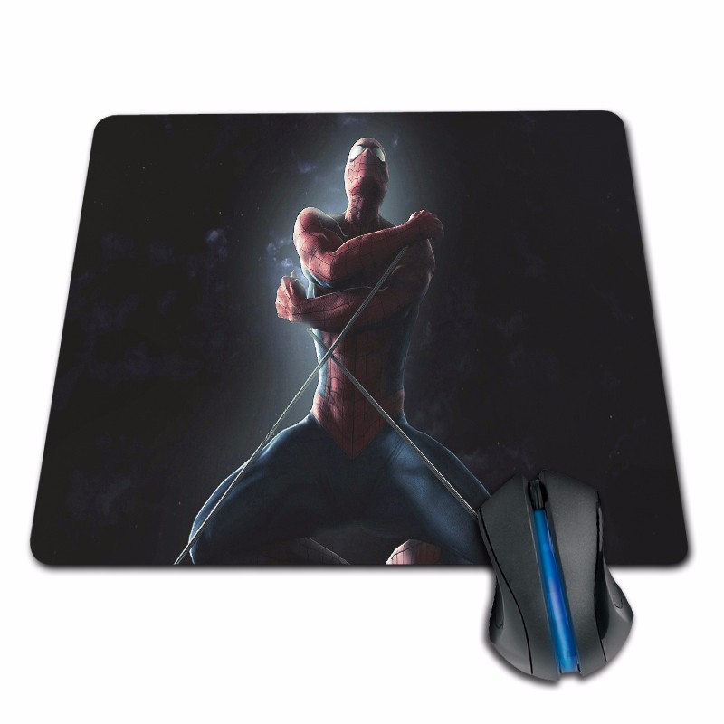 Gaming Mouse Pad Overlock the amazing spider man  film Anime Rubber 180X220X2MM 250X290X2MM Mat Mouse Pad Customized Supported