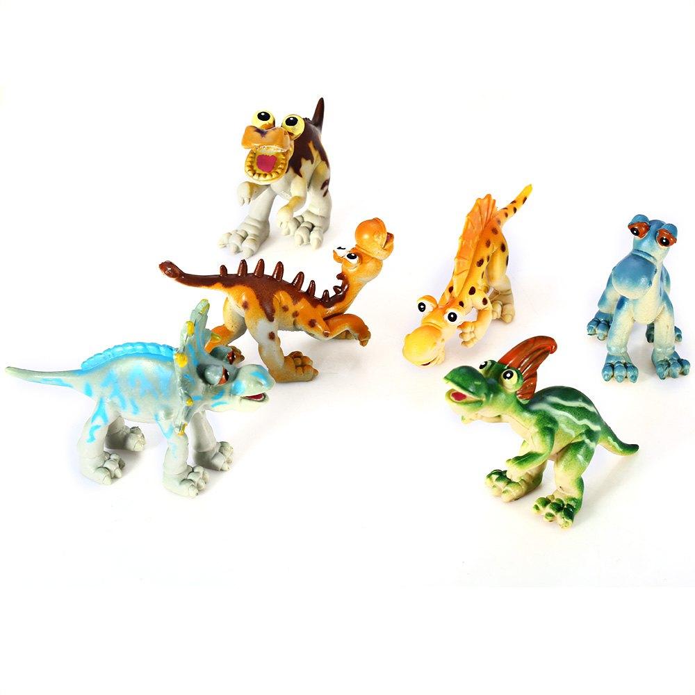 6pcs/set Prehistoric plastic Simulation Jurassic Park Animals World Cartoon Dinosaur Models Cute Action Figure Toys for Kids(China (Mainland))
