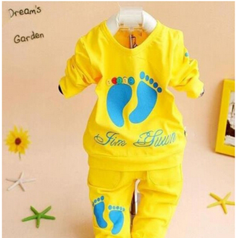 2016 New 2PCS set Baby Clothing100 Cotton Brand Long Sleeve 0 2 Years Old Baby Sport